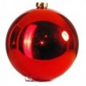 арт.Н0365 Шар глянцевый, d=20см, цвет - красный